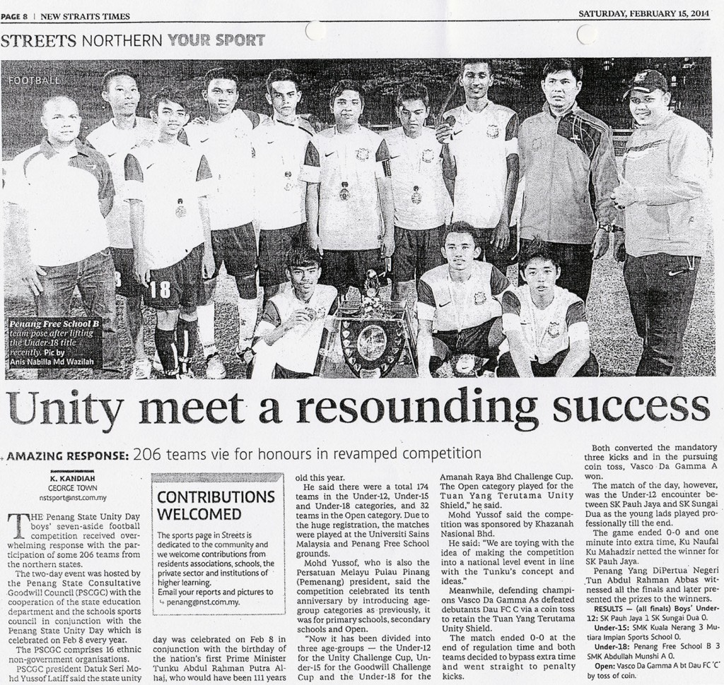 15 Feb 2014 - Unity meet a resounding success