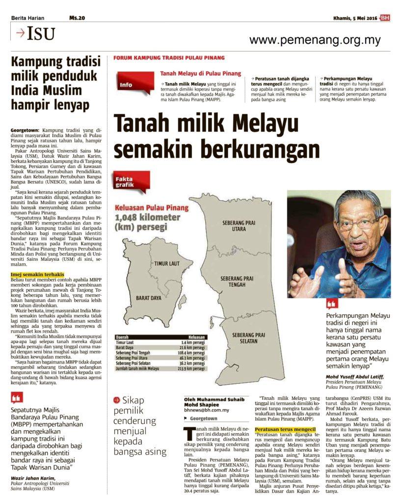 berita harian 5 mei 2016